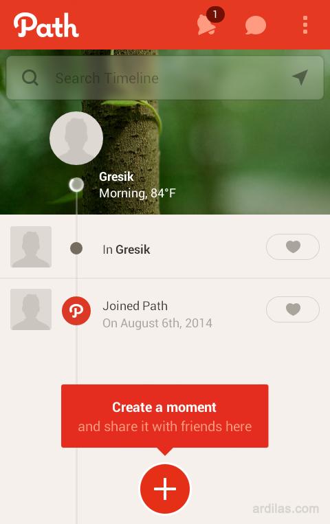 Cara Mendaftar / Membuat Akun di Aplikasi Path - Android - Selesai