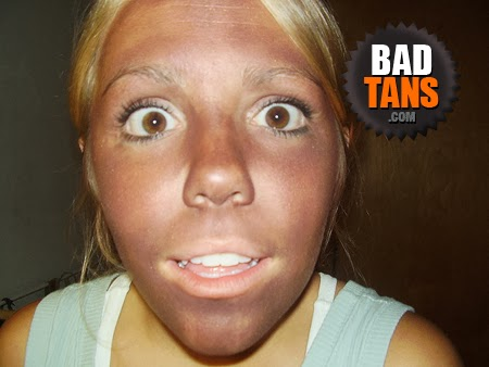 Bad Tans | Why does tan make teeth look white? ~ BadTans.com