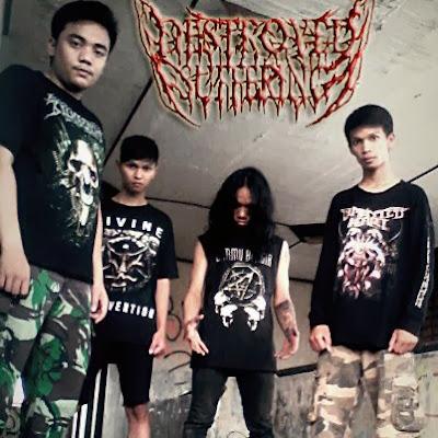Destroyed Suffering Band Death Metal Tangerang Foto Logo Wallpaper