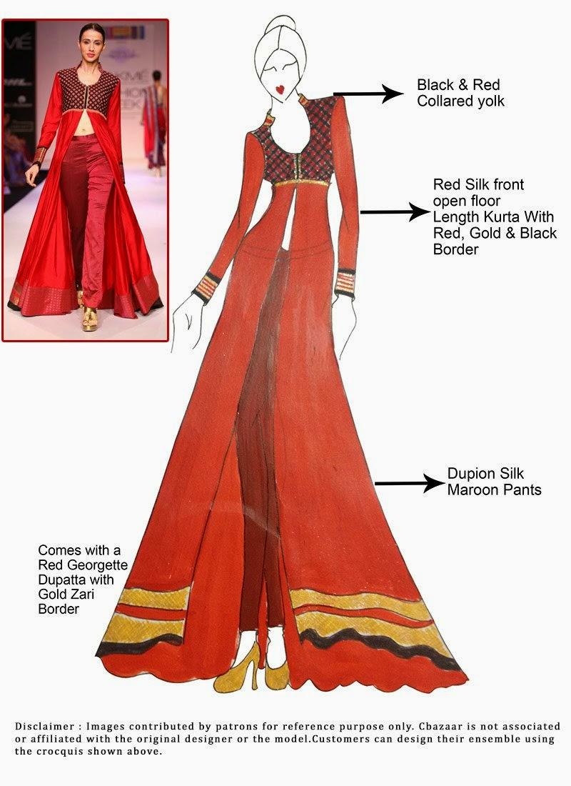 http://www.cbazaar.com/salwar-kameez/diy/diy-red-silk-ankle-length-anarkali-suit-p-slcdc1552.html