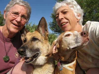 Ester, Joan, the dogs