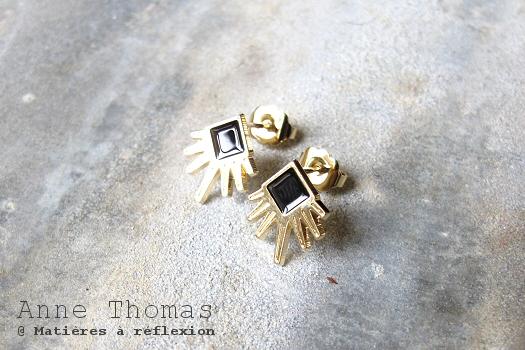 Boucles noires Anne Thomas bijoux Larsen