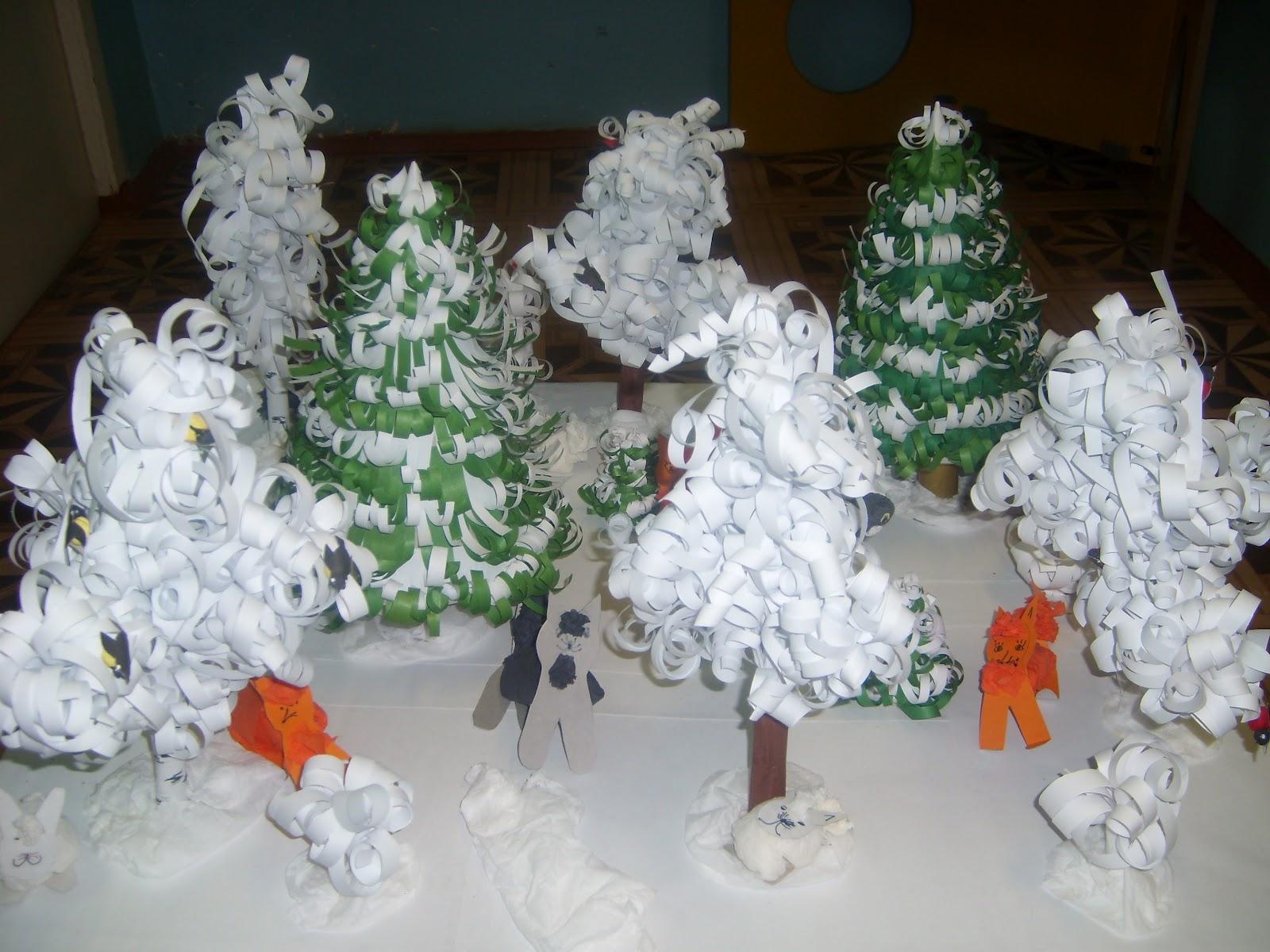 Зимний лес поделка своими руками