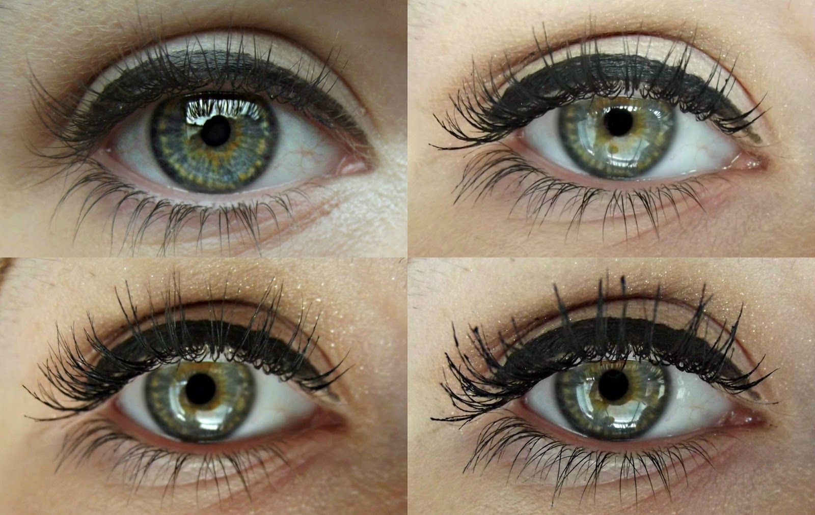 Left to right, top to bottom: no mascara, one coat, two coats, three coats. When it comes to mascara, I'm not one to splash out as I don't see the point in ...