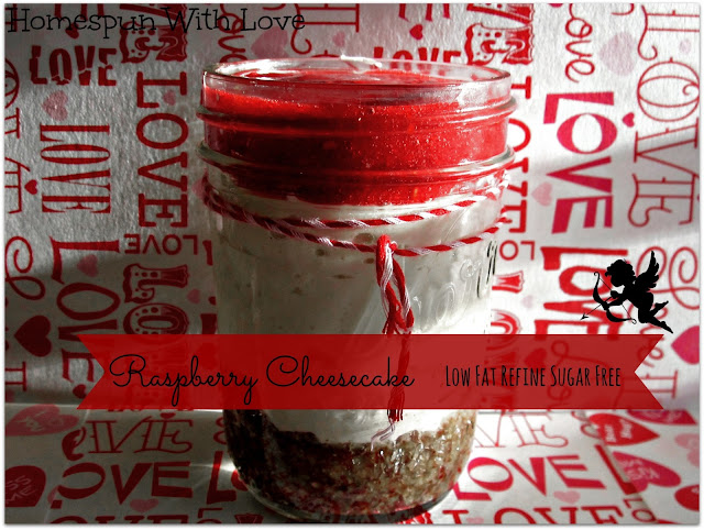 Raspberry Cheesecake in a Jar
