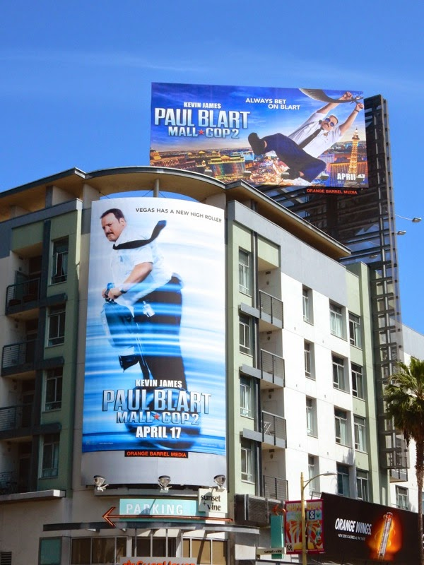 Paul Blart Mall Cop 2 movie bilboards
