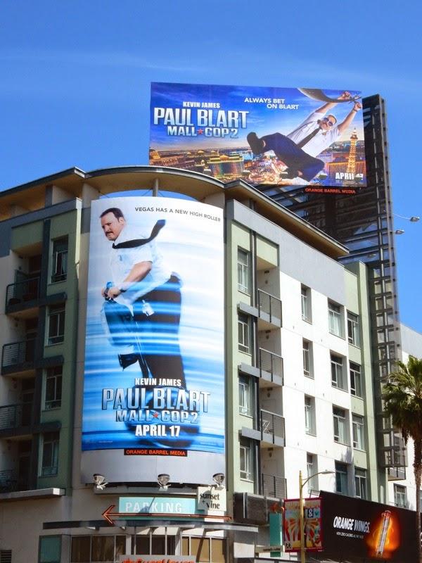 Paul Blart Mall Cop 2 movie bilboards