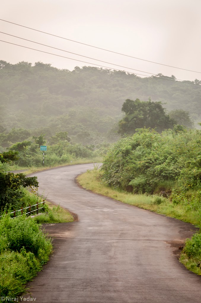 Misty mountain morning in konkan