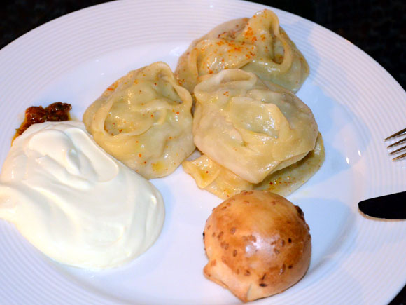 Kazakh Manti (steamed and baked dumplings)