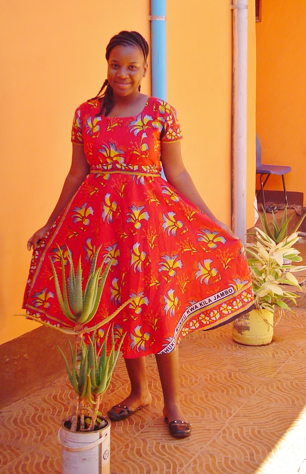 Images of khanga dress designs