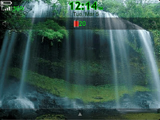 Water Fall Live Theme (9900/9930 OS7) Preview 1