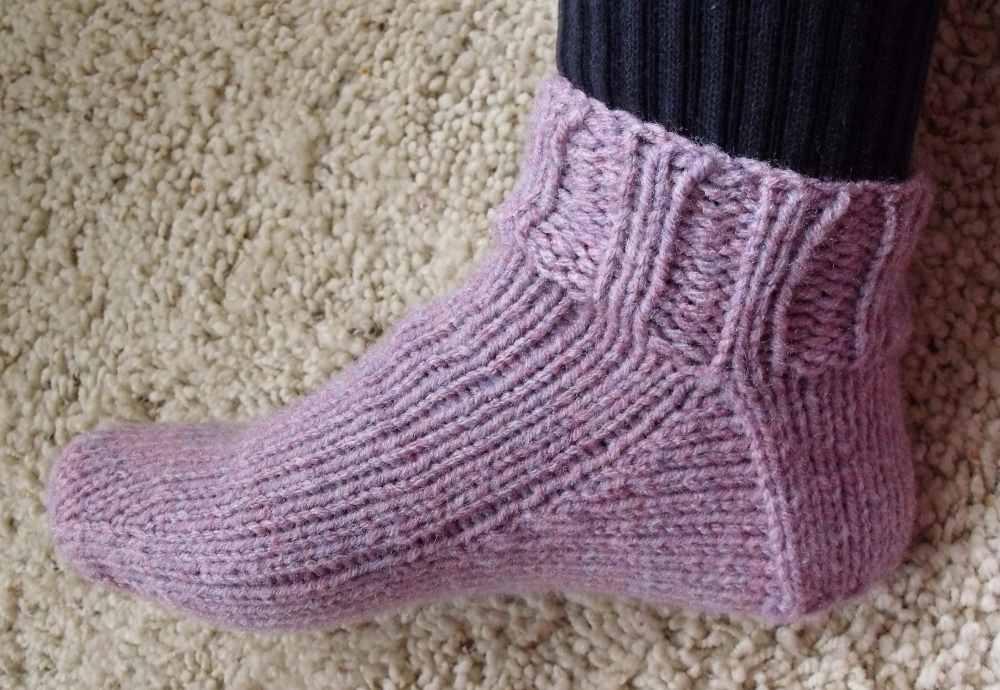 KweenBee And Me Hand Knit Slipper Socks
