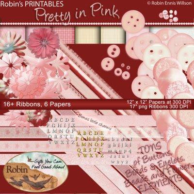 Robin's Pretty In Pink Scrap Set