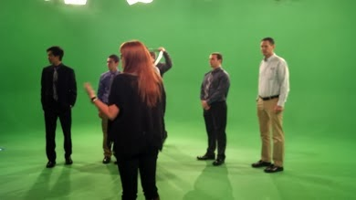 Video production, green screen