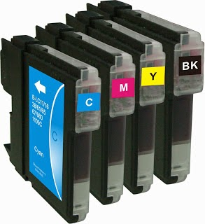 four individual ink cartridges