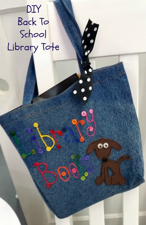 DIY Fabric Patch Library Tote Bag | iLoveToCreate