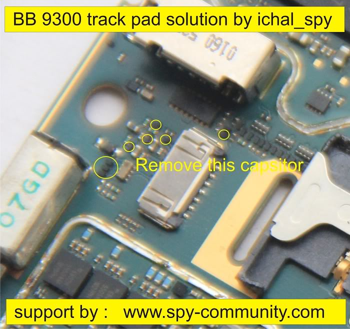 BlackBerry 9300 Trackpad IC Solutions