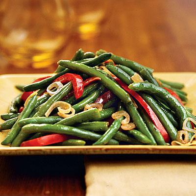 Recettes chinoises haricots verts au poivron rouge - Cuisiner les poivrons verts ...