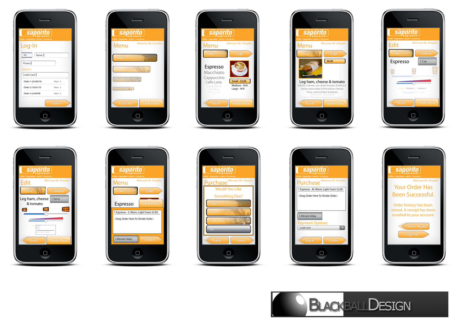 Blackball design iphone app mockups for Designing an iphone app