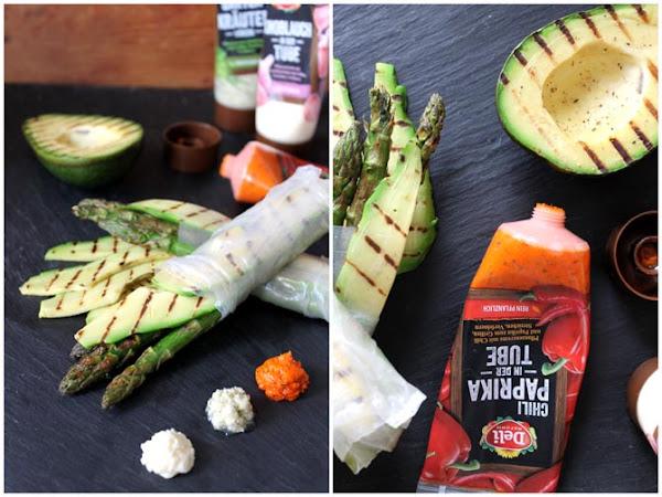 [Werbung + Give Away] Sommerollen mit grünem Spargel und gegrillter Avocado