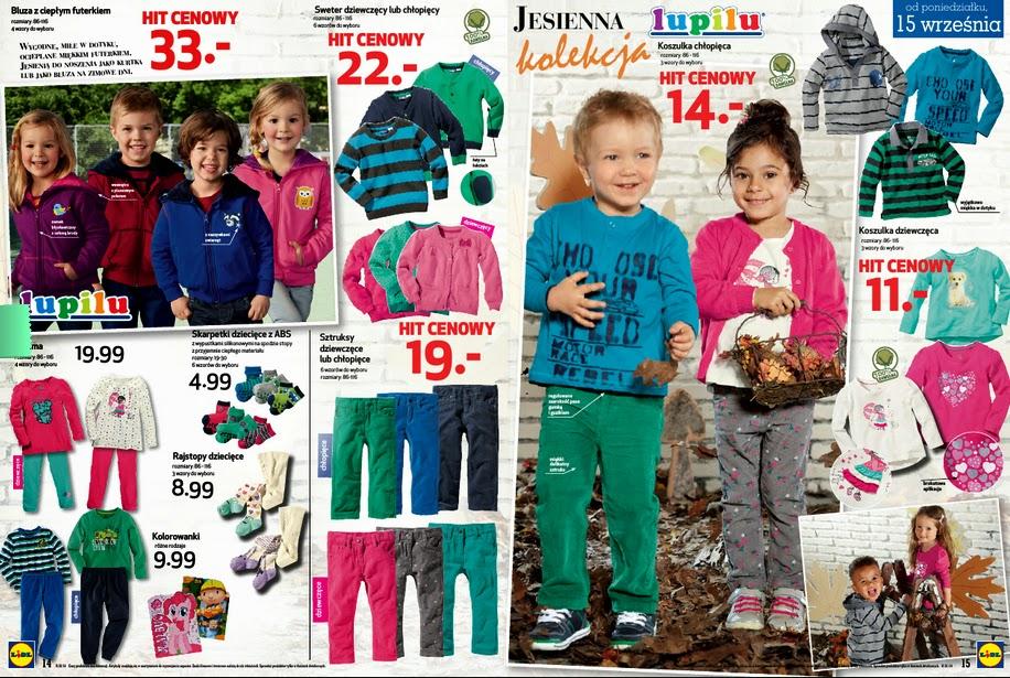 Odzież dziecięca w Lidlu w super cenach!