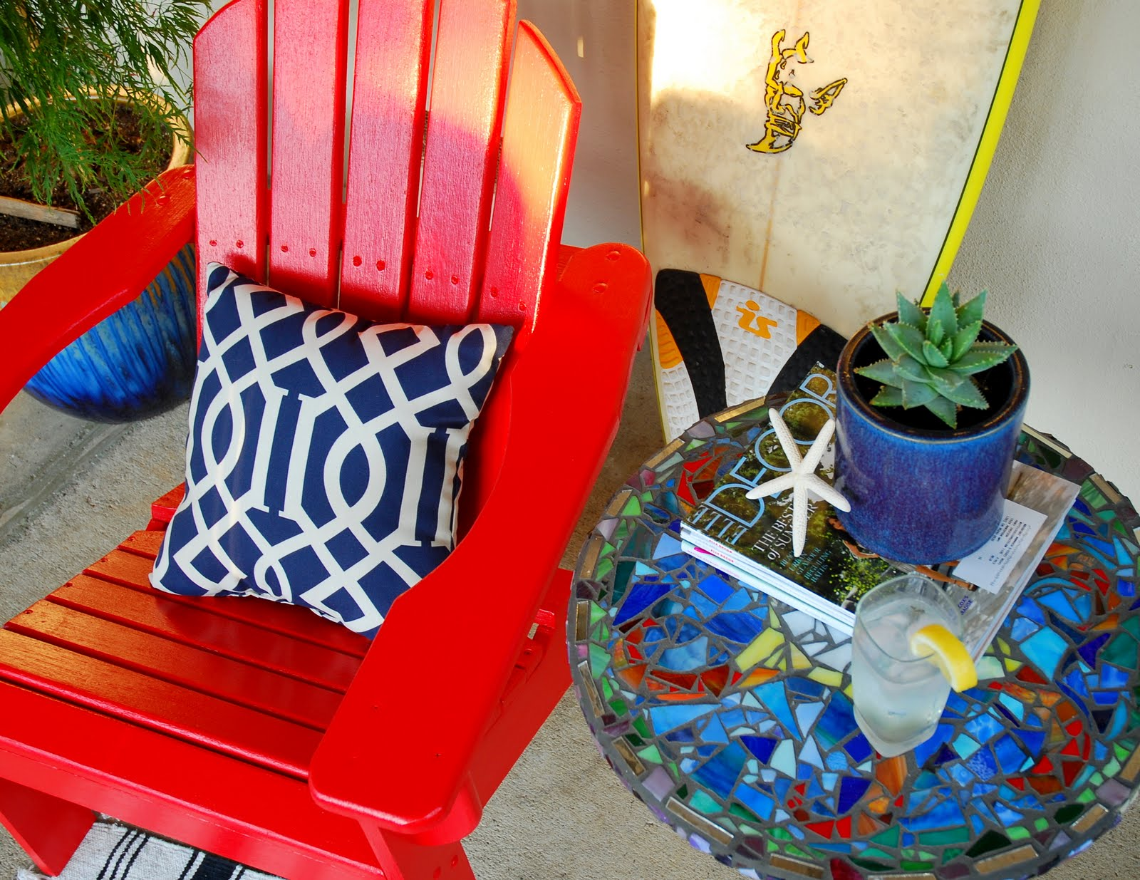 ... any DIY projects lately? Painted any outdoor furniture? Please share