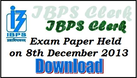 ibps, ibps clerk exam paper, ibps clerk questions, ibps exam questions paper, bank exam paper, bank clerk exam study material