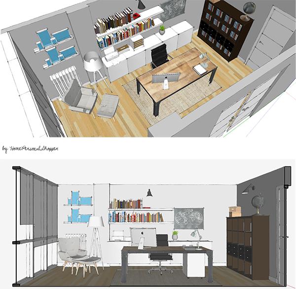 Asesoramiento online decoración. Ayuda HomePersonalShopper. Decoración despacho