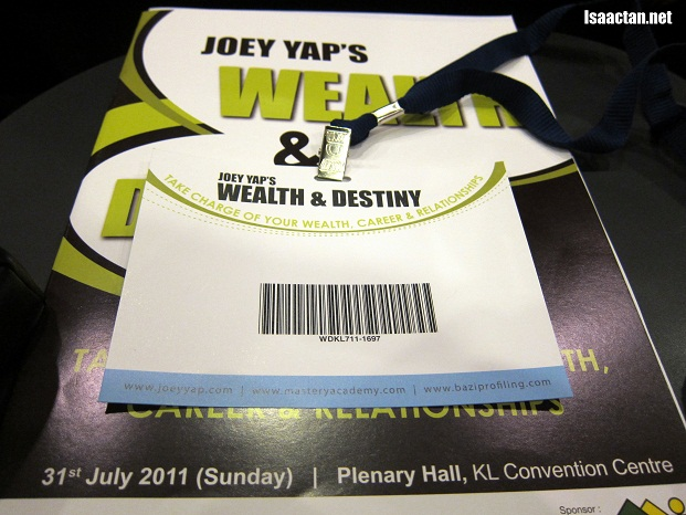 Wealth & Destiny Fengshui Seminar By Joey Yap