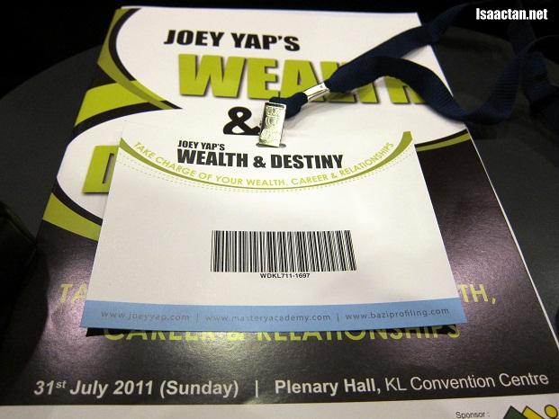 Wealth & Destiny Fengshui Seminar By Joey Yap