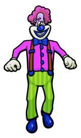 Looney Clown medium sized image.