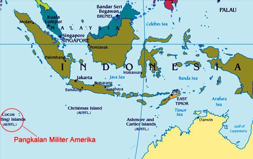 Pangkalan Militer AS Hanya Berjarak 1.272 Km dari Jakarta