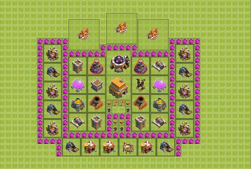 Susunan Formasi Base Bangunan Pertahanan Clash Of Clan
