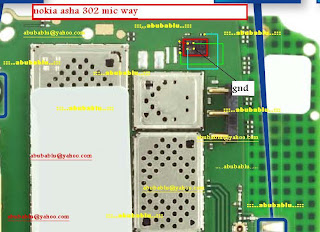Nokia Asha 302 Mic Problem solution diagram