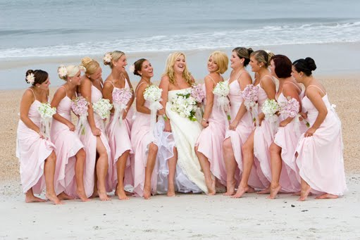 Beach weddings call for an entirely different type of bridesmaid hair