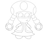 #2 Toadette Coloring Page