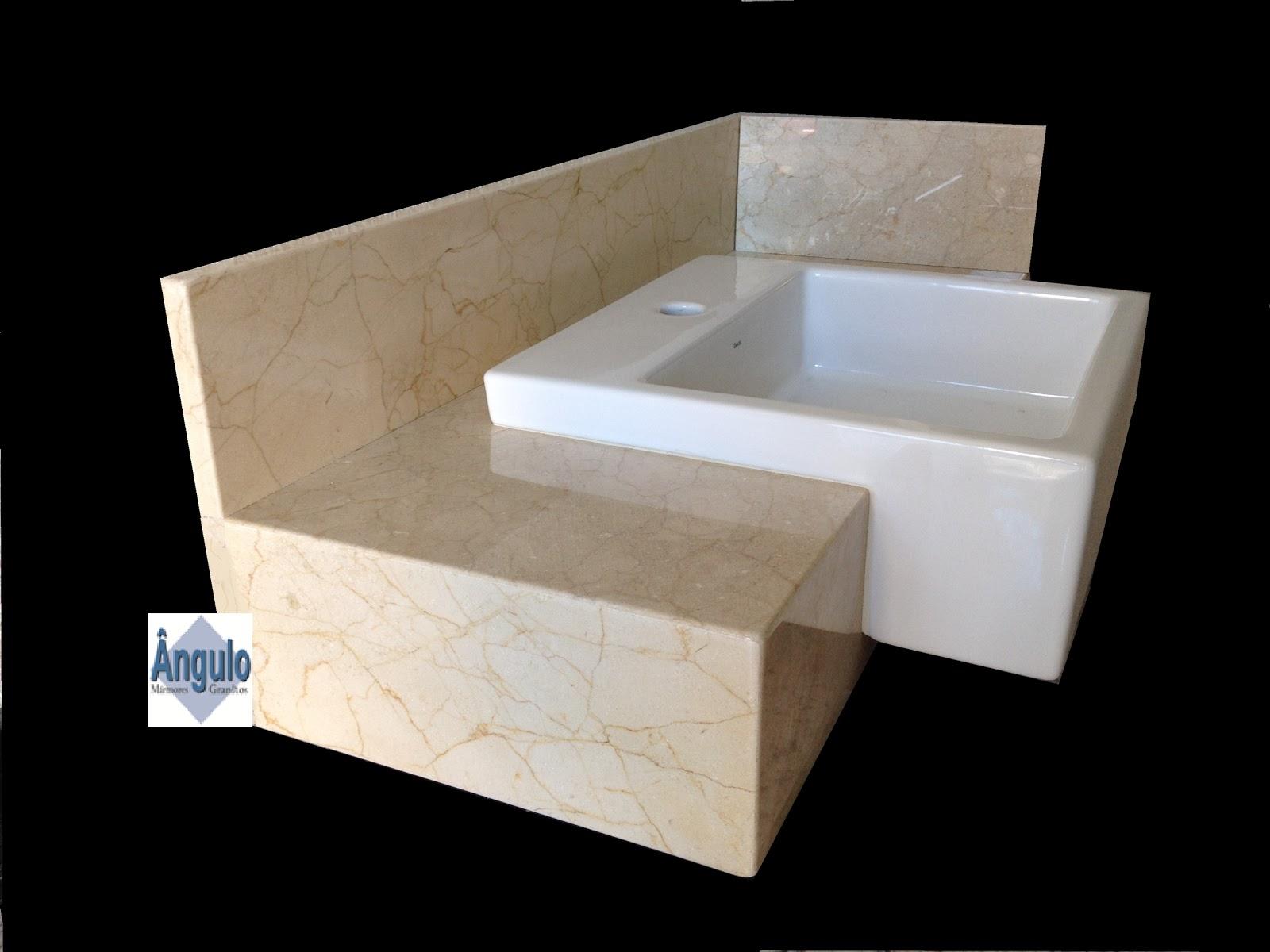 Bancada confecciona em mármore importado italiano CREMA MARFIL um  #476784 1600 1200