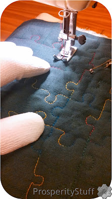 ProsperityStuff Free-Motion Quilting puzzle pieces