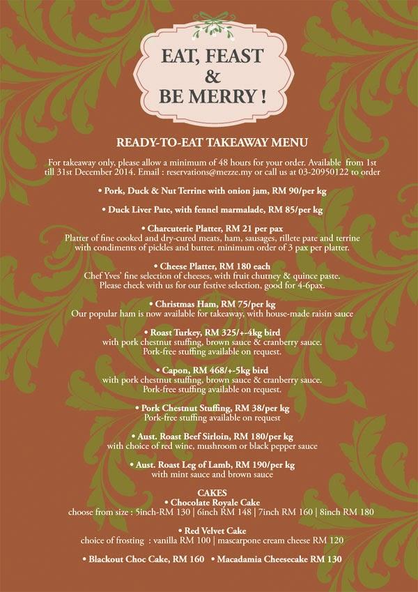 Foodie Trail, Mezze, Christmas,