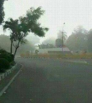 Abu Vulkanik Gunung Raung, Hujani Kota Tape