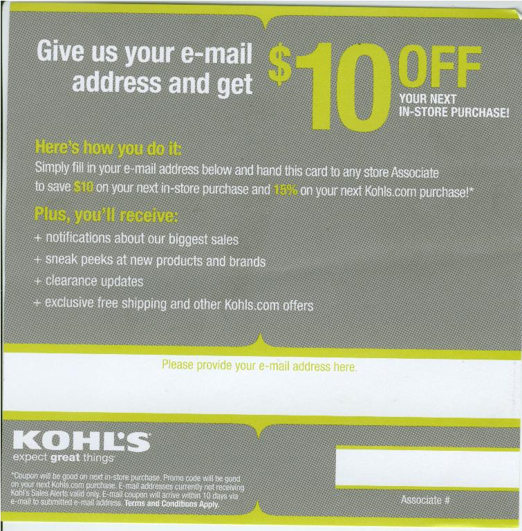 This is a photo of Stupendous Kohls 10 Off Coupons Printable