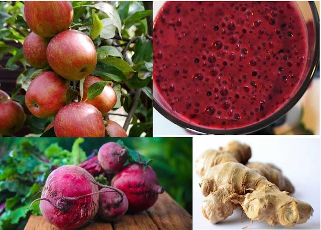 jus de fruits santé pommes betteraves gingembre, régime scandinave