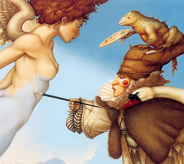 painting,Micheal Parkes,dreamscape