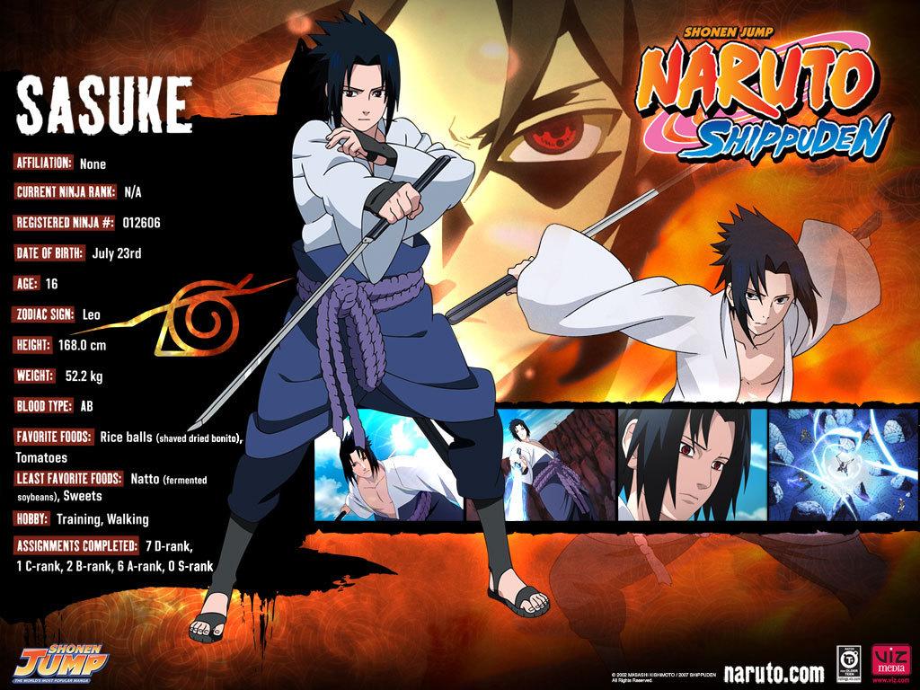 Anime Characters Born On August 8 : Naruto kun sasuke uchiha