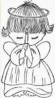 desenho de anjinho segurando vela para pintar