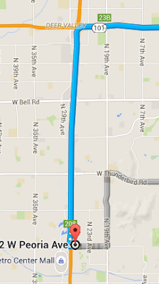 Google Map Route Choices