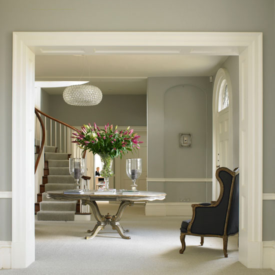 New Home Interior Design Traditional Hallway: Eye For Design: Grey Interiors..... Refined And Sophisticated
