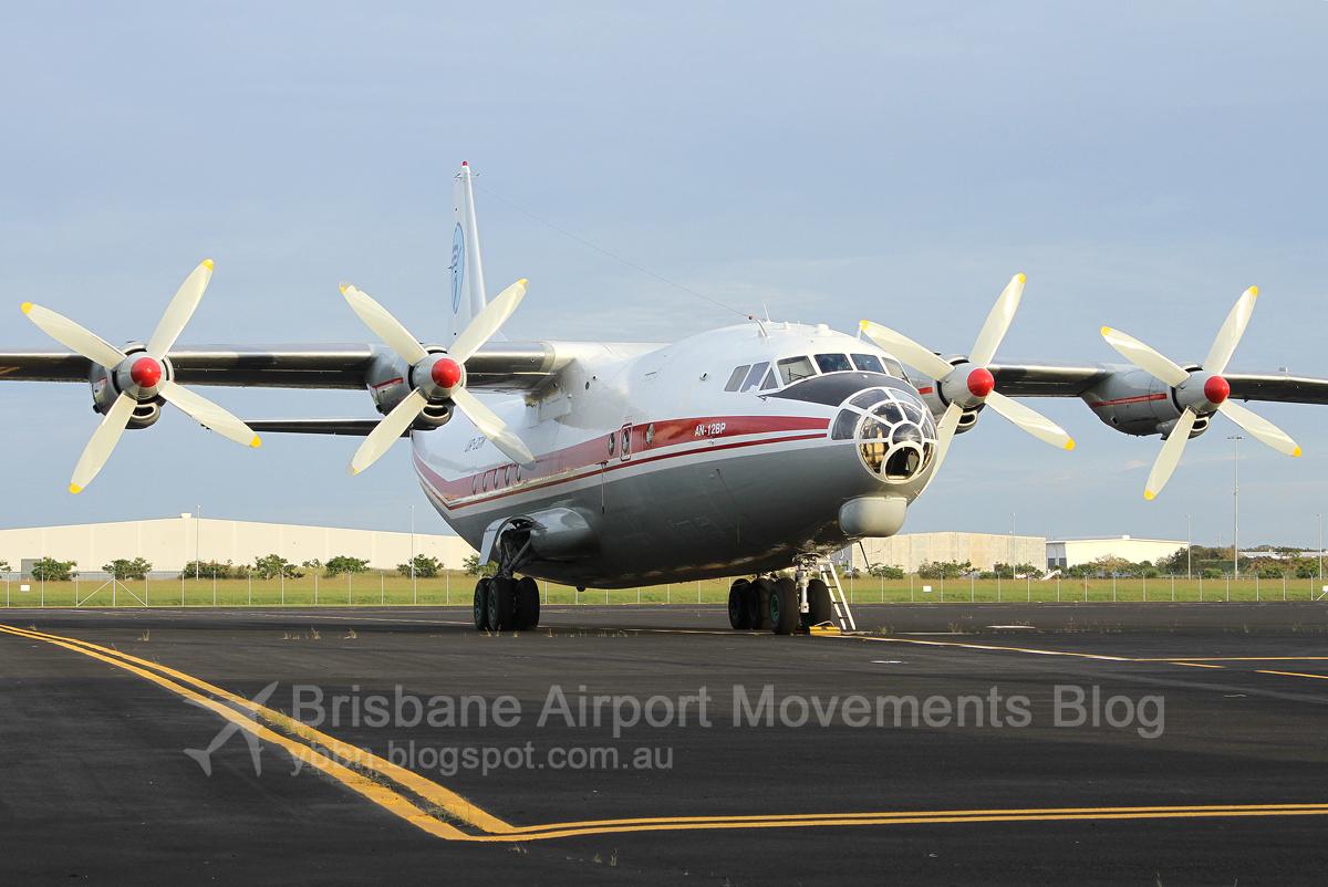 Ukraine air alliance antonov an 12bp ur cgw msn 402410 arrived bne