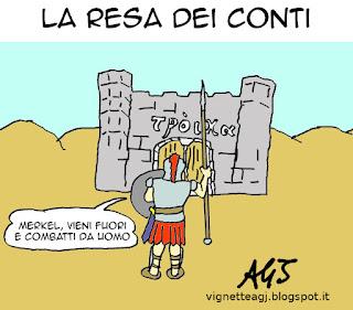 greferendum, Grecia, troikam satira, vignetta