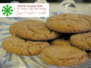 In The Kitchen With Mom Mondays: Ginger molasses cookies